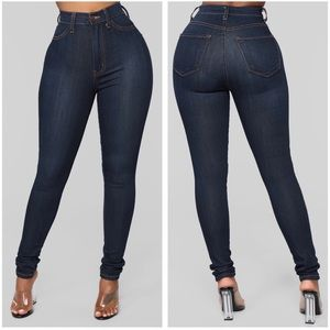 Fashion Nova Classic High Rise Dark Skinny Jean